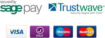 Secured by sage pay | Trustwave | Visa | Solo | Maestro | MasterCard